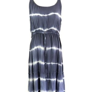 J Gee Tie Dye Sleeveless Peasant Dress Blue 1X